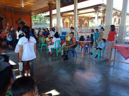 Imunisasi MR di Posyandu Melati Desa Padangbulia