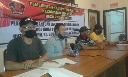 Pemerintah Desa Padangbulia Salurkan Bantuan BLT Dana Desa Tahap I Tahun 2020