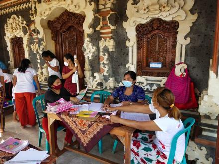 Posyandu Kamboja bulan Maret  Desa Padangbulia